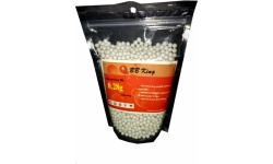 BB King .28 gram BB's for Airsoft play. BB-BB-28-WH
