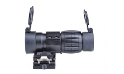 Style 4X FXD Magnifier with Adjustable QD Mount (Black)